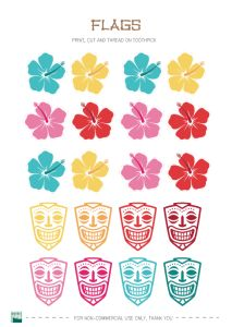 Free Printable vintage hawaiian party decorations