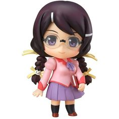 Good Smile Bakemonogatari: Tsubasa Hanekawa Nendoroid Action Figure * Be sure to check out this awesome product. (This is an affiliate link) #ActionFiguresStatues