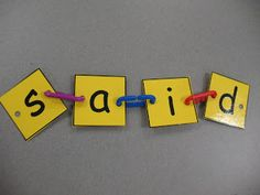 Use for names at the beginning of the year and then sight words in Pre-k
