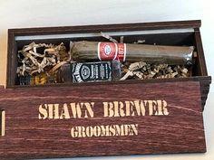 Personalized Cigar Box  Cigar Gift Box  Groomsmen Gift Box