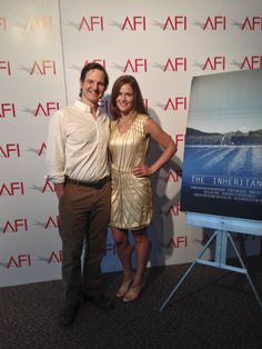 Anne Hamilton with the Lead in her short film, The Inheritance.