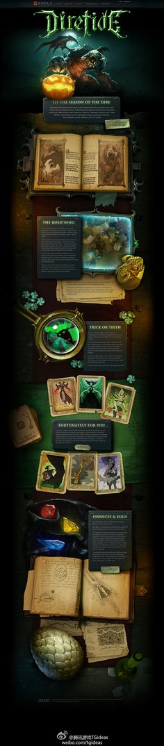 Unique Web Design, DOTA 2 #WebDesign #Design more on http://html5themes.org