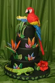Parrot cake for Selas 6th Parrot Food Pinterest Cake