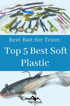 Once you've mastered the skill of catching trout on spinners and spoons, it's time for you to graduate to soft plastics. Although they are harder to use effectively and to master, using soft plastics can be one of the most effective ways to fish for trout. Best Trout Lures, Trout Fishing Tips, Soft Plastic, Best Fishing, Fishing Boats, Bait, Boating, Spoons, Ships