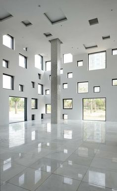 SAKO Architects. CUBE TUBE in Jinhua. Windows. Abstract. Design. Architecture. White. Space. Installation. Art.