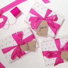 Sweet custom wrapping for one of our sweetest brides! We love bridal party presents!  Congrats, Katie!