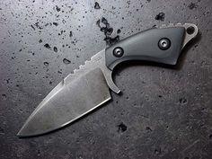 Custom fixed blade neck knife 130