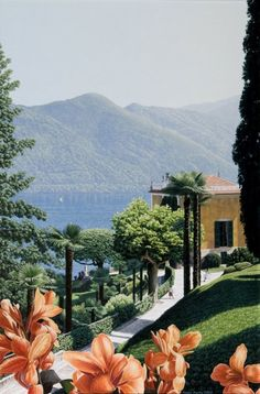 'Overlooking the Gardens and the Villa Balbianello' by Steve Easby oil on linen  76 x 51 cms