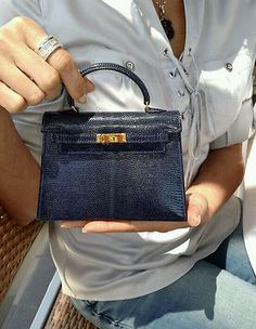 beb9a4e8883c Authentic-ULTRA-RARE-Hermes-Kelly-15-cm-Blue-