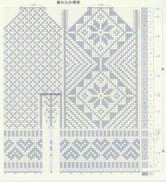 Fair Isle Knitting Patterns, Knitting Charts, Knitting Stitches, Knitting Needles, Mittens Pattern, Knit Mittens, Mitten Gloves, Baby Hats Knitting, Knitting Socks