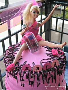 Bachelorette Barbie Cake   Oysters & Pearls