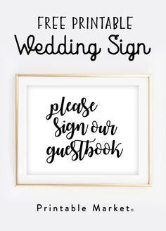 Free Printable Wedding Sign Cards And Gifts  Free Printable