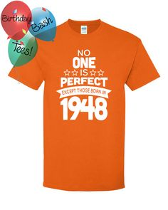 68 Year Old Birthday Shirt No One is Perfect by BirthdayBashTees
