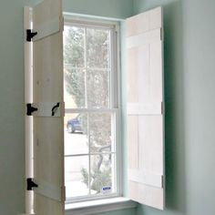 If you're looking for an alternative to curtains, see how to easily make Indoor Farmhouse-style Shutters, a beautiful decor idea for windows in any room.