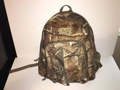 Sports Afield Hunting Backpack Camo Bag Camping Hiking Polyester Waterbottle  | eBay