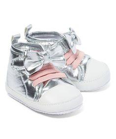 Silver Bow Sneaker #zulily #zulilyfinds