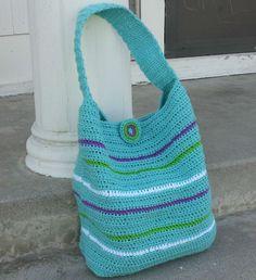 The London Crochet Bag  Love the colors!