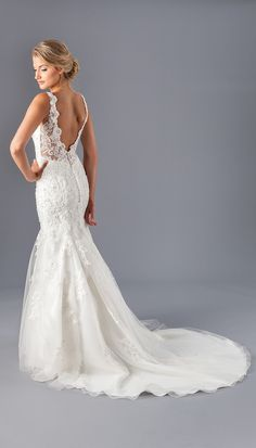Sparkle and shine on your big day with Kennedy Blue Victoria! This beaded  lace wedding 4dbc2bd03
