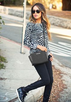 animal print outfit, cute for a more casual look!  :)