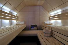 Prachtige Design sauna- strak, modern, minimalistisch.. Met oog voor detail.