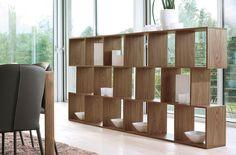 Alberta: libreria modulare in legno