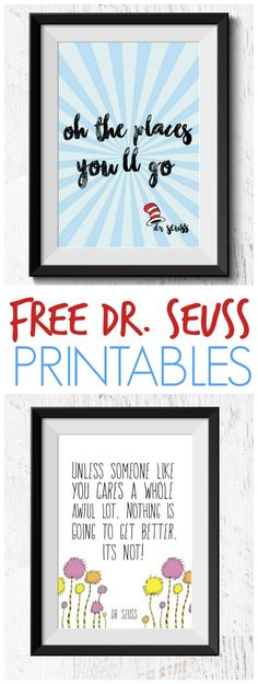 Grab these NEW FREE Dr. Seuss Printable Quotes + Books for $1.20 Each with Free Shipping. Just download these 2 popular Quotes and Frame them for Dr. Seuss' Birthday Celebrations