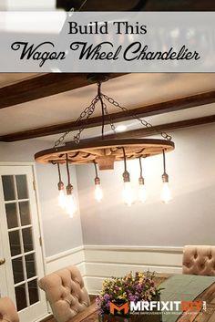 Wagon Wheel Chandelier | Mr. Fix It DIY