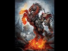 four horsemen of the apocalypse. War. Good tattoo idea, horse only.