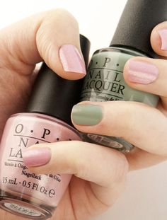 OPI Pedal Faster Suzi with OPI Thanks A Windmillion