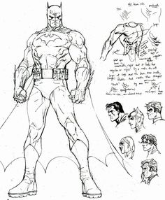 Batman Jim Lee sketches