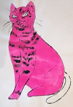 ...By Andy Warhol, 1 9 5 4, Sam (pink with white tail).