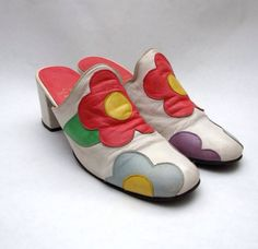 Mary Quant shoes c 1967 60s And 70s Fashion, Mod Fashion, Fashion Shoes, Vintage Fashion, Mode Vintage, Vintage Shoes, Vintage Outfits, 1920 Shoes, Mary Quant