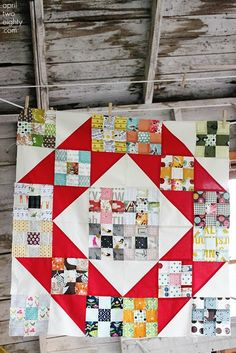 This links to AprilTwoEighty but I couldn't actually find it to further credit it.  Great quilt and great blog though...