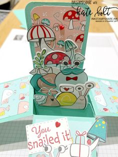 You Snailed It! - InkStampShare 3d Cards, Cool Cards, Stampin Up Cards, Fancy Fold Cards, Folded Cards, Snail Cards, Action Cards, Stampin Up Catalog, Snail Mail