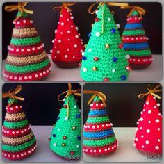 Pinos navideños.  http://www.facebook.com/DulceDanielaTejidos