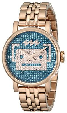 07aae8f24ad6 Fossil Women s ES3663 Special Edition Original Boyfriend Three-hand  Stainless Steel Watch - Rose Gold-Tone with Robot Blue Dial. Reloj ...
