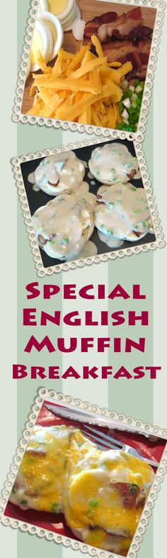 Special English Muffin Breakfast - I LOVE this rich, saucy recipe for hard-cooked eggs, bacon and cheese smothered in a savory white sauce on an English muffin. | delishable.net
