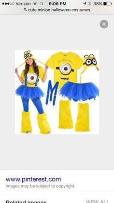 Cute minion Halloween costume!