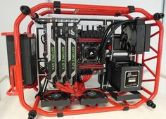 Most amazing case ever Computer Build, Computer Setup, Laptop Computers, Custom Computers, Watercooling Pc, Office Games, Pc Parts, Custom Pc, Hardware Software