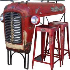 Vintage Massey Ferguson Traktor Upcycled Into Design Bar Upcy ohw cool ist das ! Vintage Massey Ferguson Traktor Upcycled Into Design Bar Upcy . Vintage Massey Ferguson Traktor Upcycled Into Design Bar Upcy . Repurposed Furniture, Industrial Furniture, Vintage Furniture, Furniture Decor, Furniture Design, Metal Furniture, Bedroom Furniture, Refurbished Furniture, Pallet Furniture