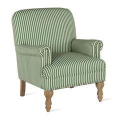 Best Joyce Textured Stripe Chair Gray Blue American 400 x 300