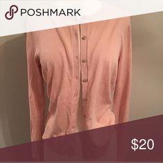 EUC Loft button down long sleeve cardigan Classic Loft button down long sleeve cardigan. Soft light pink color. Size M, worn once! LOFT Sweaters Cardigans