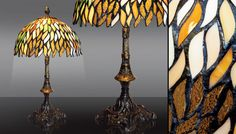 stained glass Lamp Lyssa by Cherrypl on Etsy