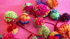 Pom Pom Garland Tutorial by Kristin Nicholas - great for using up leftover yarn