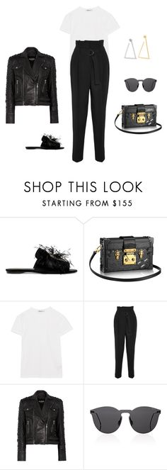 """""""Je Ne Sais Quoi #PFW"""" by travellingeye ❤ liked on Polyvore featuring Roger Vivier, T By Alexander Wang, Vanessa Bruno, Balmain, Illesteva and Jennifer Fisher"""