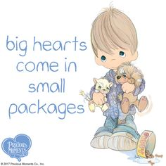 Sometimes we need to make room for the big hearts of our little blessings. Welcome every moment with these precious gifts from Heaven above and share the gift of His eternal love.  #PreciousMoments #LifesPreciousMoments #pets