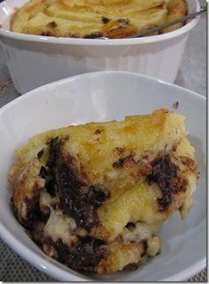 orange chocolate bread pudding