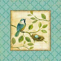 Картинки для декупажа «Птицы»
