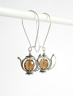 Hey, I found this really awesome Etsy listing at https://www.etsy.com/listing/207967029/teapot-earrings-brown-earrings-brown