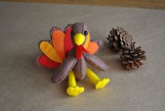 Or you could just buy one! - hand stitched felt turkey critter by DelilahIris - or use my printable pattern and try to tackle sewing one yourself http://delilahiris.com